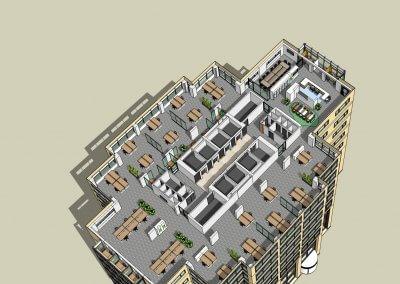 Rabobank Amsterdam kantoor Mondriaantoren verdiepingen